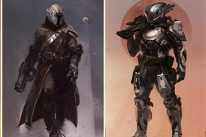 Two armor types of the Destiny game