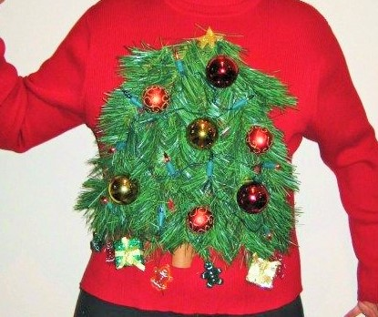 Silver Streak : How to Make an Ugly Christmas Sweater