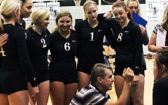 Varsity volleyball team wins Bi-Distric championship