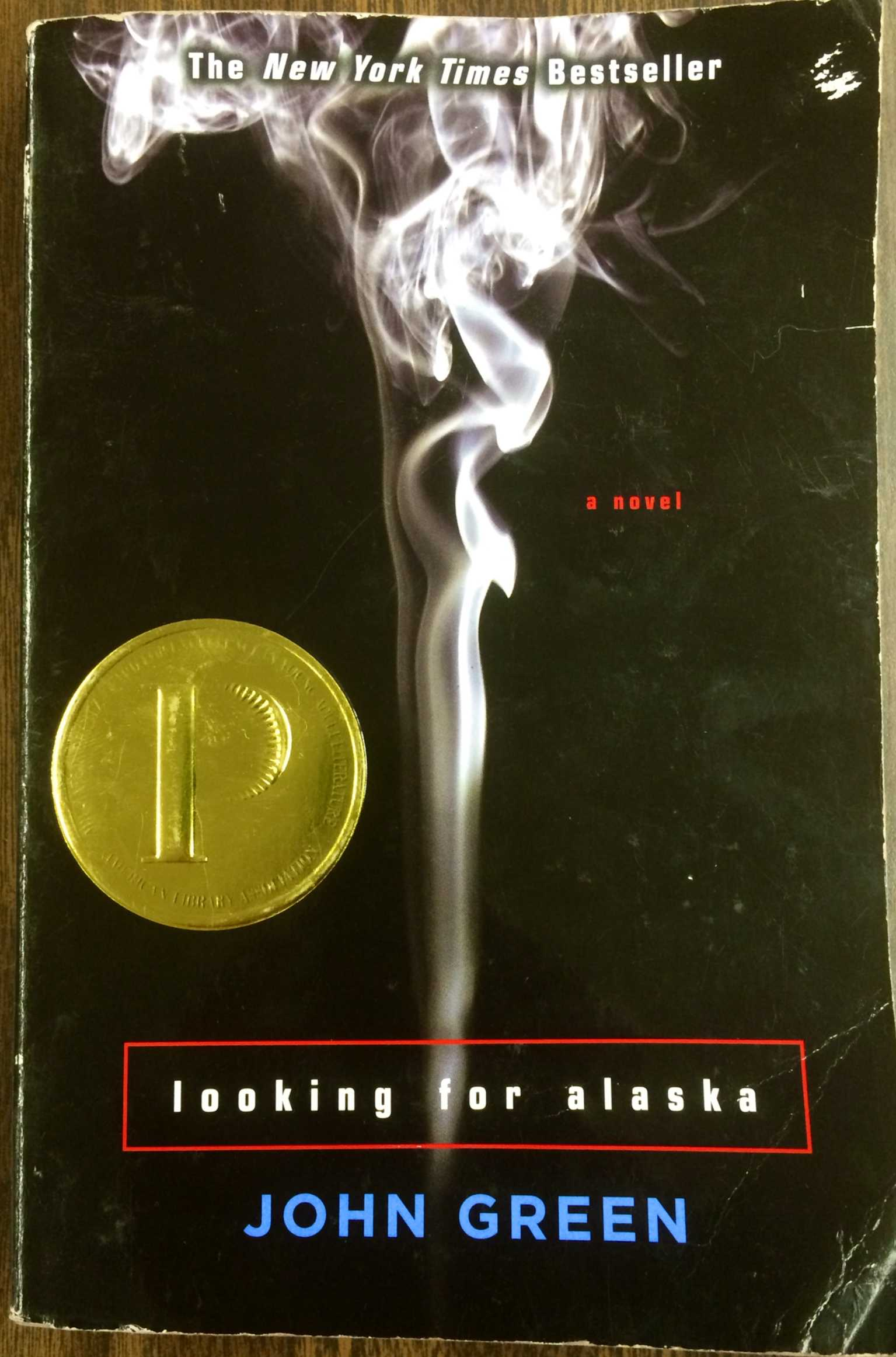 Looking for Alaska book cover.