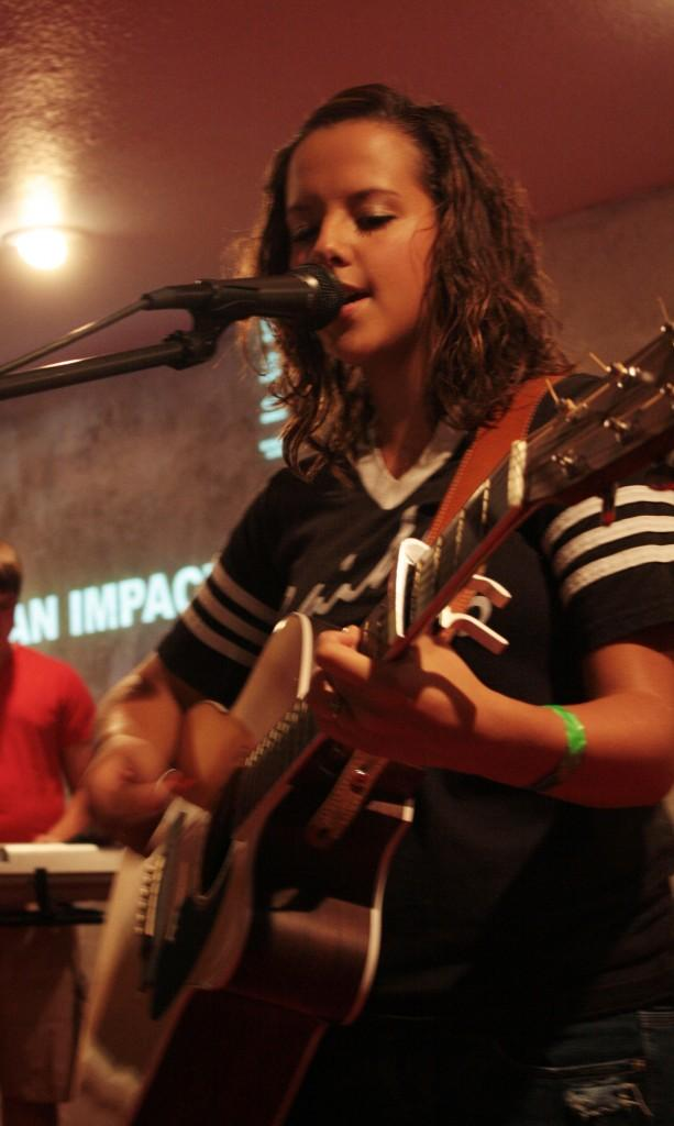 Student leads youth through personal faith, musical talent