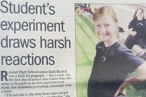 Randall pregnancy experiment grabs the attention of the Amarillo Globe News