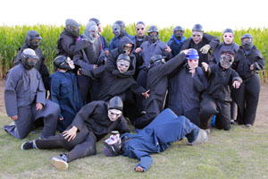 Baseball team works Zombie Safari Halloween Attraction