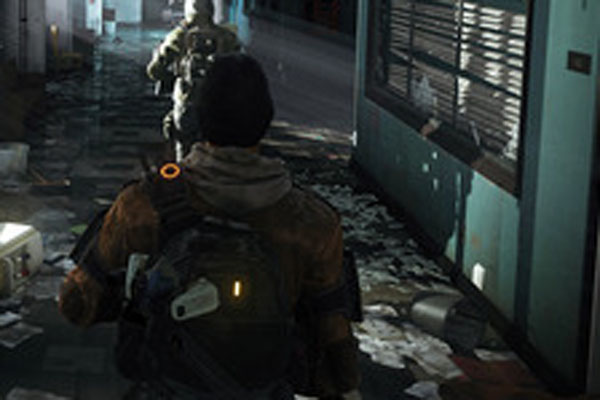 A couple Division Agents searching a police station for supplies