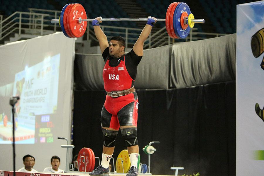 Junior Marcos Bribiesca sets the national record for Team USA at the Youth Olympic World Championship in June.