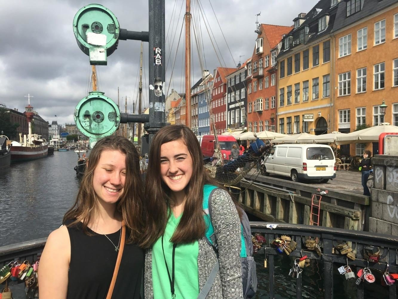 This is from a trip Kaitlyn Hawley went to in Copenhagen, Denmark with an exchange student from New Zealand.