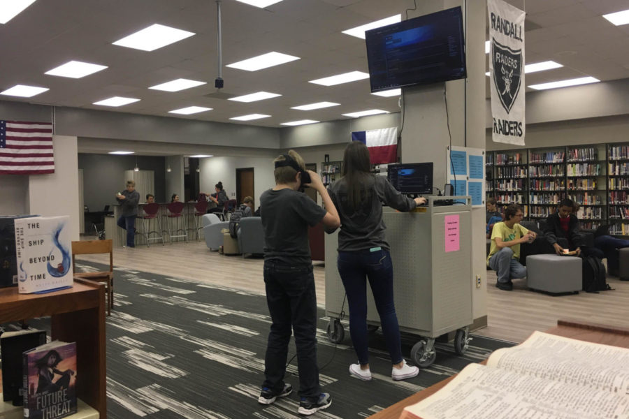 Escaping Reality: Virtual Reality Device installed in West Library