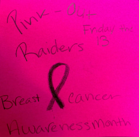 Black, Silver and Pink: Students participate in pink out for breast cancer awareness