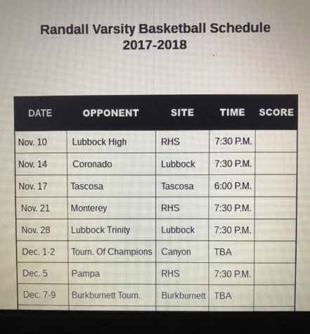 First home basketball game to be played this Friday