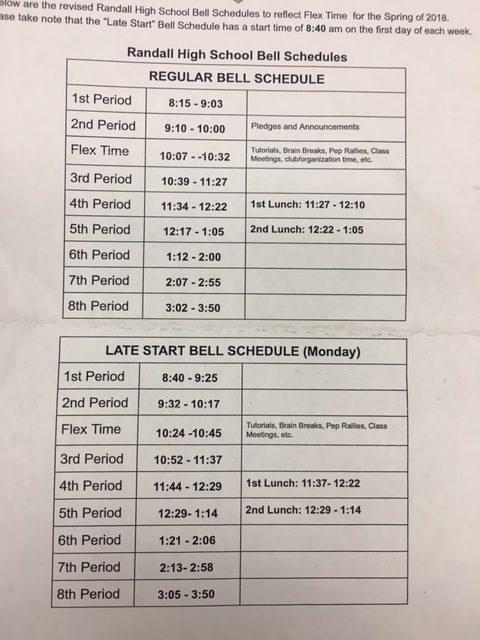 New FLEX Schedule in Place