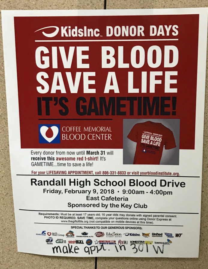 Blood drive to be held this Friday