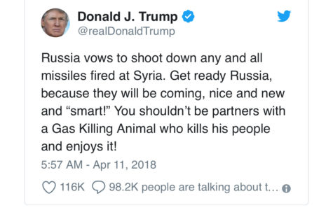 Trump Orders Missile Strikes Following Chemical Attack in Syria