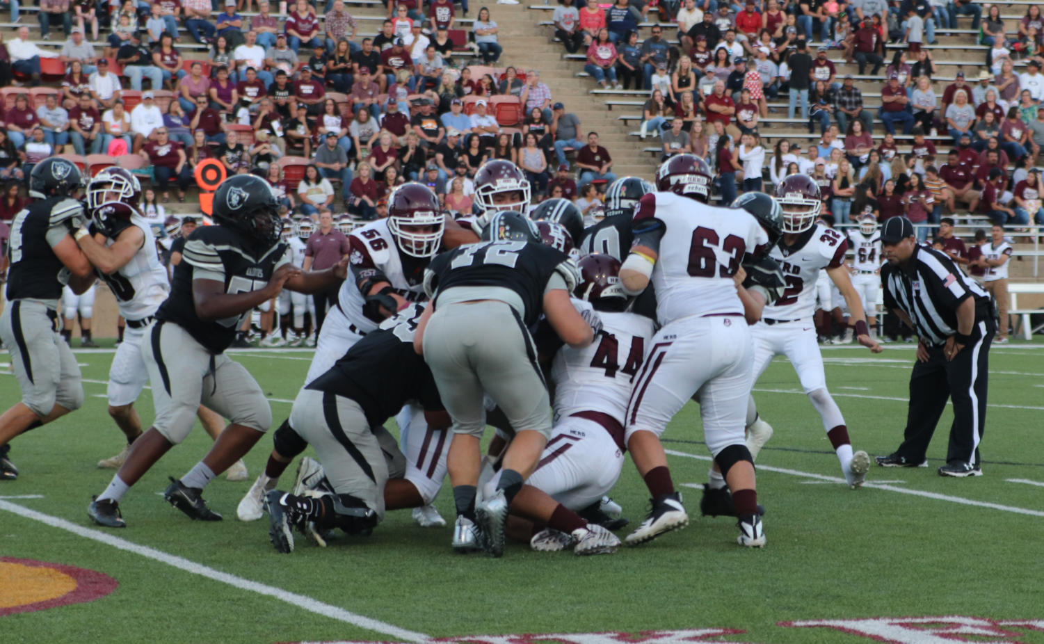 The Raiders compete during their Sept. 13 game against Hereford.