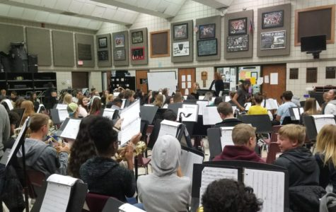 The Randall Marching Band prepares for UIL