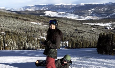 Senior Faith Martinez Spent Christmas on the Slopes