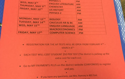 AP Students Receive Testing Dates