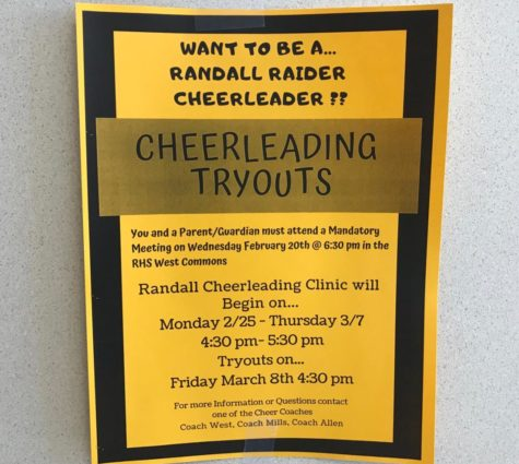 Want to be a Randall Raider Cheerleader? Tryouts to be in March