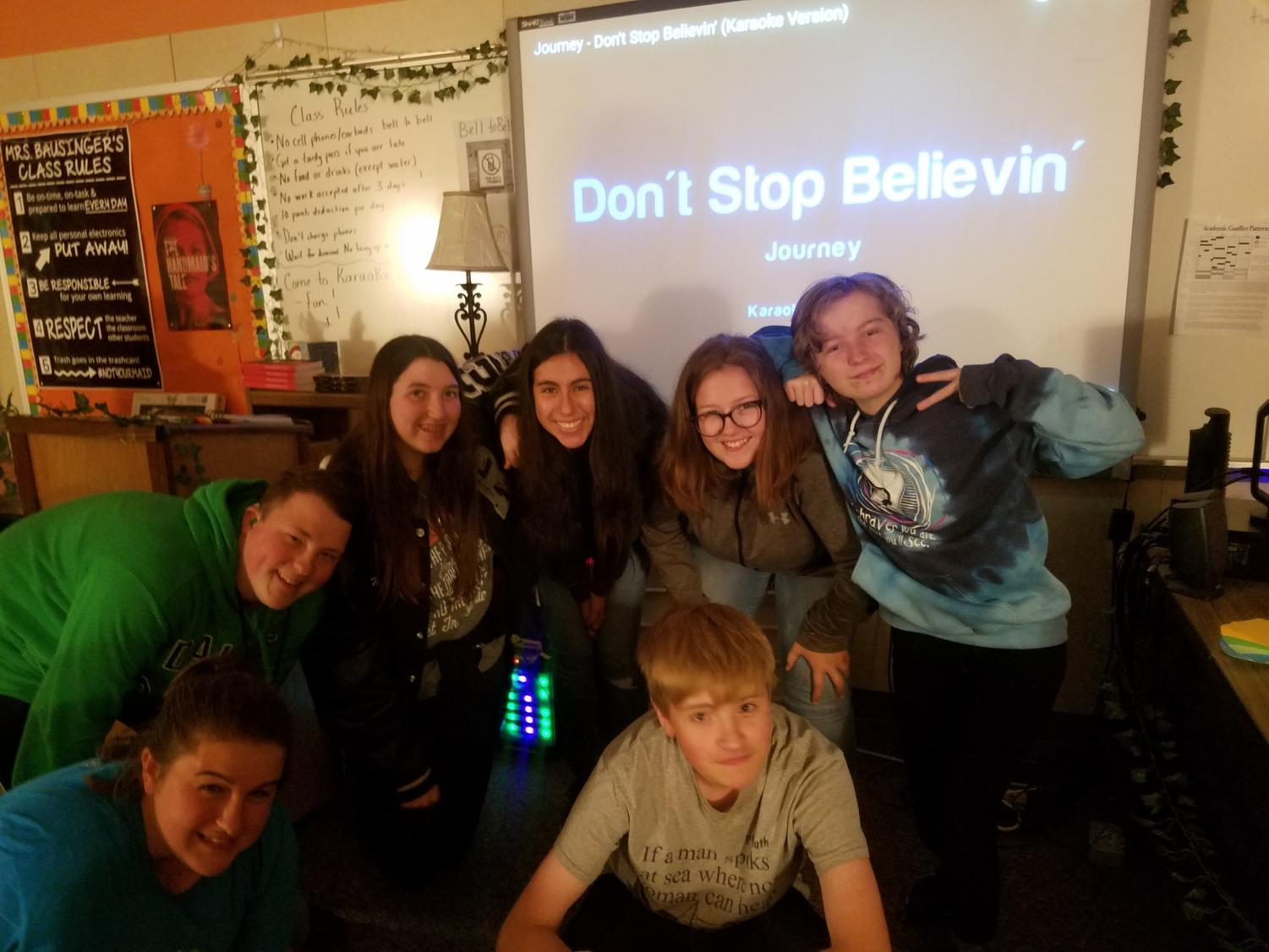 Karaoke Club meets in Mrs. Bausinger's room, 322E, every Wednesday. during Flex Time