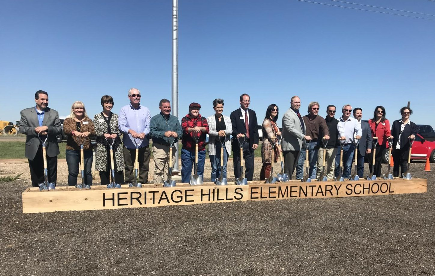 CISD officials break ground on the district's newest elementary school, Heritage Hills.