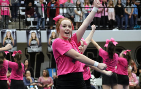 Students Celebrate Pink Out Pep Rally