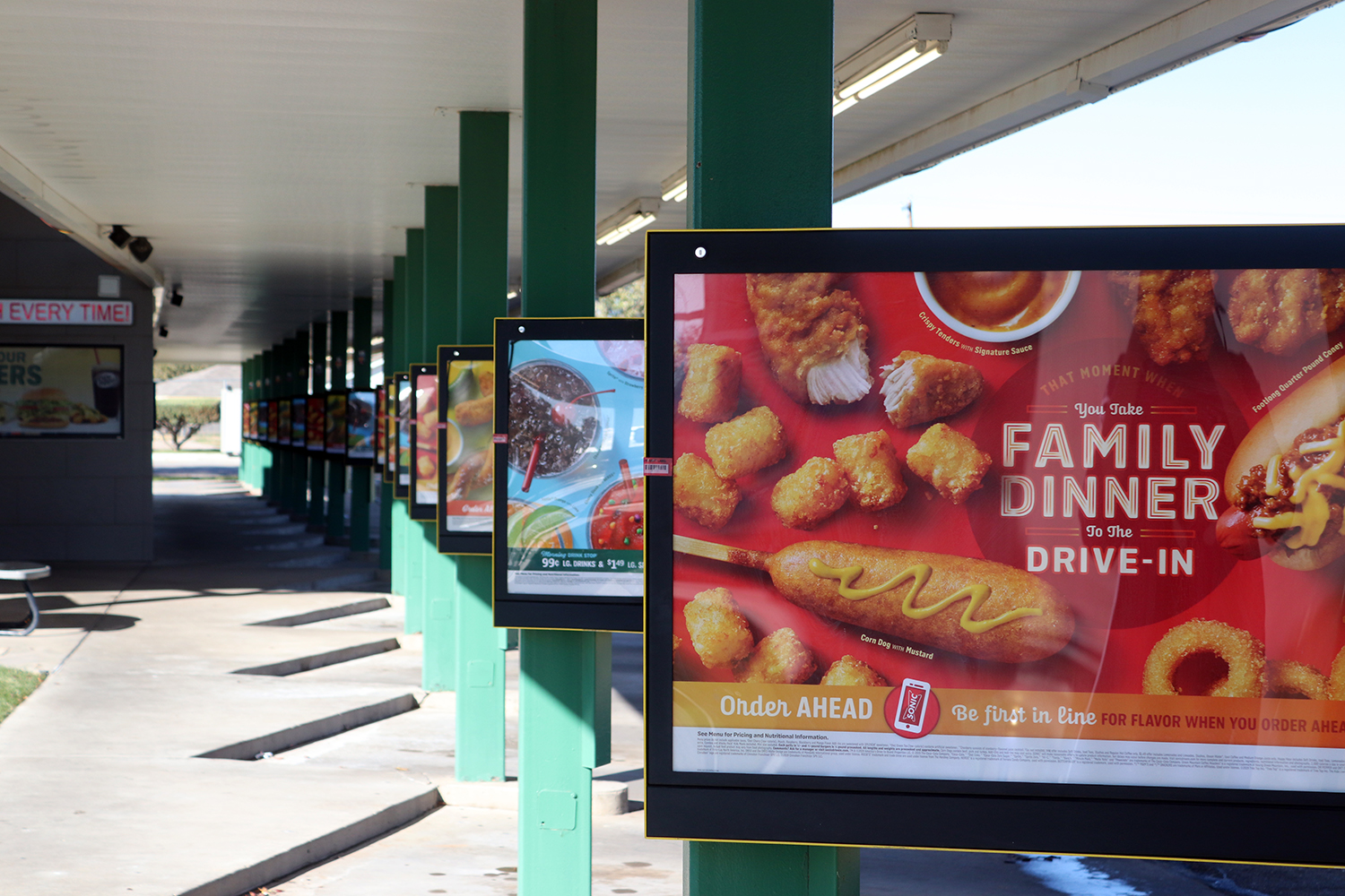 The Sonic, located on Bell, is among one of the popular lunch time food establishments for Randall students.
