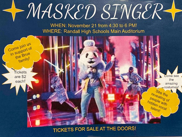 Masked Singer will take place this Thursday in the West Auditorium to support the Brue family.