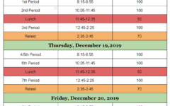 Fall Semester Exam Schedule