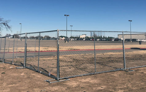 Part of the West student parking lot is shut down in preparation to welcome new construction crews.