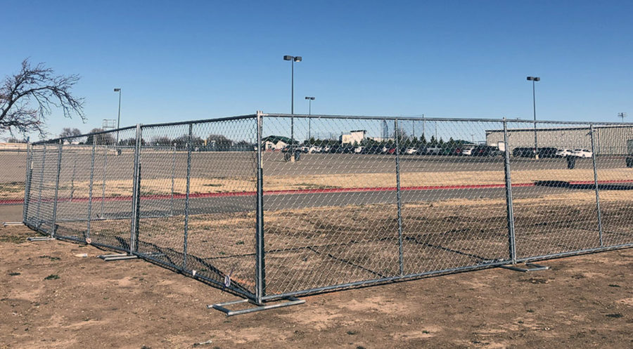Part+of+the+West+student+parking+lot+is+shut+down+in+preparation+to+welcome+new+construction+crews.+