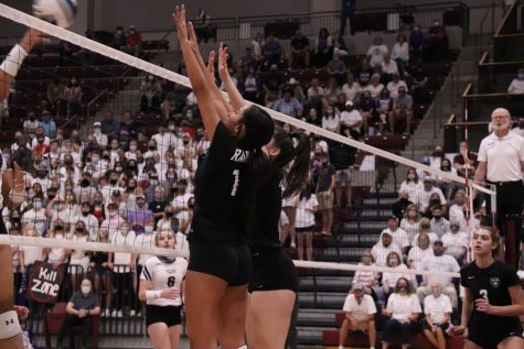 The Varsity Volleyball team swept Canyon in their Sept. 15 season opener at WTAMU.