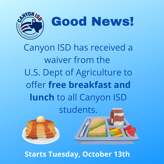 CISD To Offer Free Breakfast And Lunch