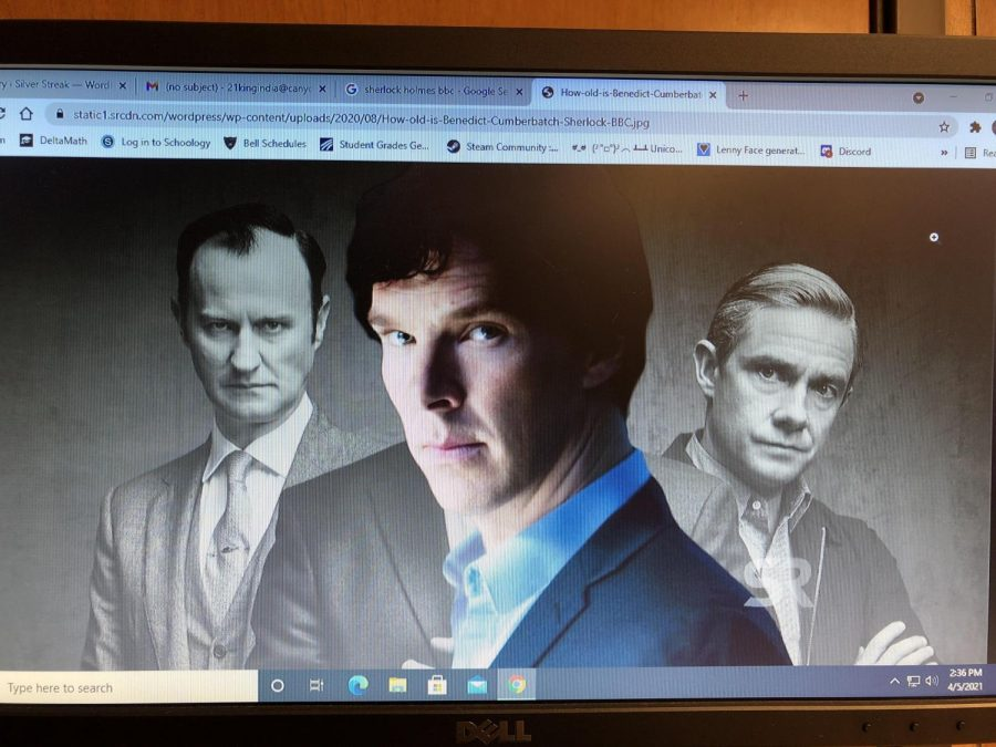 Sherlock with his older brother Mycroft and best friend John Watson