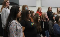 Students practice during their choir period on Sept. 9.
